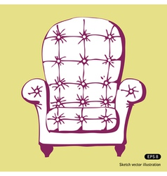 Beautiful chair vector image vector image