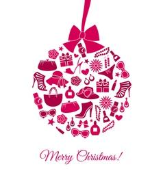 Fashion Christmas Ball vector image vector image