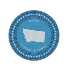 Label with map of montana Denim style vector image vector image
