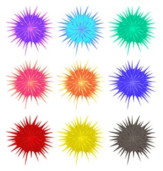Thorny balls in different colors vector