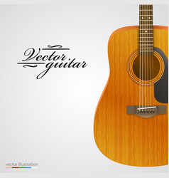 acoustic guitar bright background vector image vector image