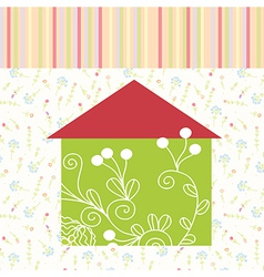 Green house floral background vector image