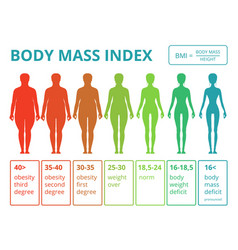 medical infographics with of female vector image