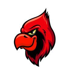 cardinal red bird head icon vector image vector image