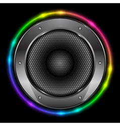 colorful background with Sound Speaker vector image vector image