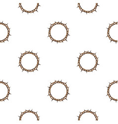 crown of thorns pattern seamless vector image