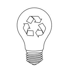 figure bulb eco icon vector image