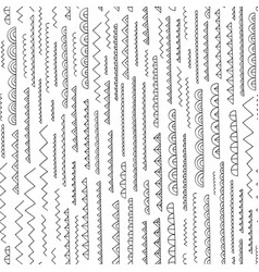 hand drawn abstract pattern seamless vector image