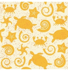 Seamless pattern with sea animals vector image vector image