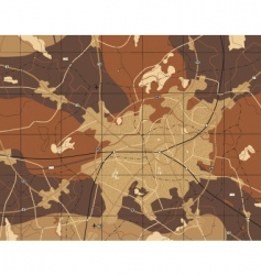 brown map vector image
