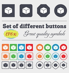 cube icon sign Big set of colorful diverse vector image