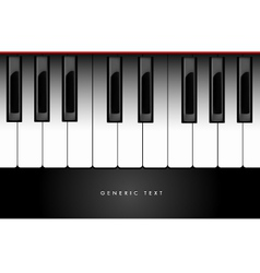Piano Keyboard Background vector image vector image