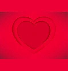 red heart shape paper vector image vector image