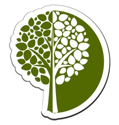 Tree emblem 1 isolated on white vector