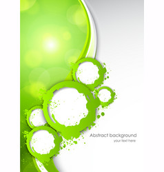 Abactract green background vector image