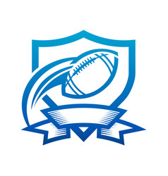 american football shield badge icon vector image