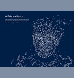 Artificial intelligence poster text sample vector