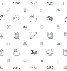 Bandage icons pattern seamless white background vector