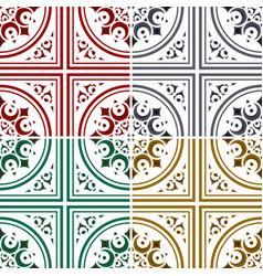 beautiful tile pattern vector image