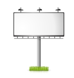 Billboard background with grass vector