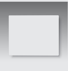 blank paper plastic or cardboard box top view vector image