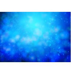 blue bokeh background for christmas design vector image
