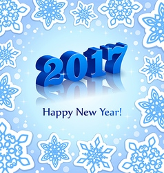 Blue New Year 2017 on Blue background vector image