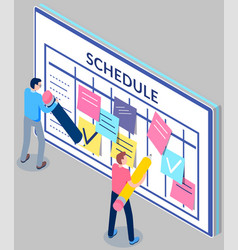 Business planning and scheduling concept group vector