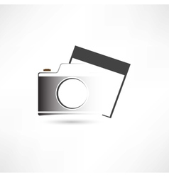 Camera and photo vector