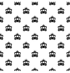 carriage pattern seamless vector image