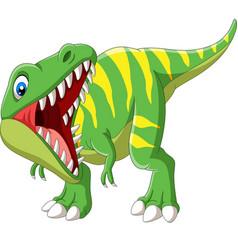 Cartoon tyrannosaurus rex roaring vector
