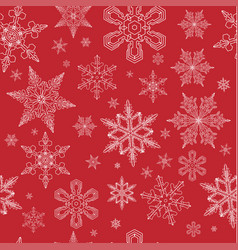 christmas snow pattern snowflakes vector image