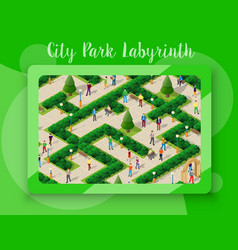 City park with people vector