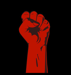 Clenched fist red and black vector