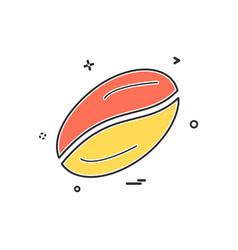 coffee beans icon design vector image