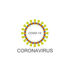 Coronavirus icon covid 19 pandemic sign isolated vector