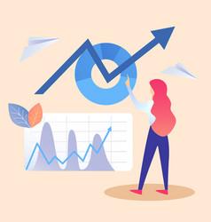 Corporate data auditing flat vector