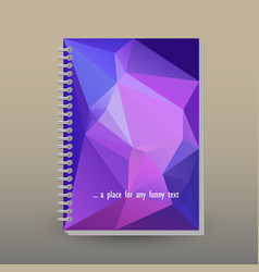 Cover of diary or notebook ultra violet triangular vector