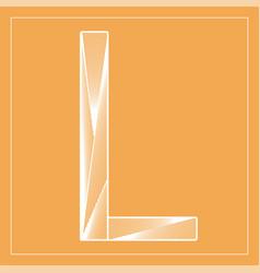 Decorative font stylized letter l vector