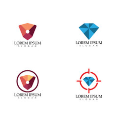 Diamond search insurane logo template icons vector