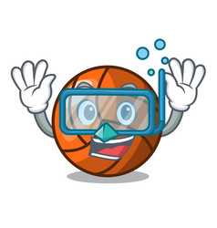 Diving volleyball character cartoon style vector