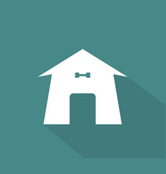 Dog kennel icon vector