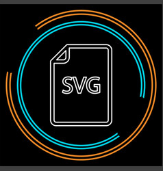 download svg document icon - file format vector image