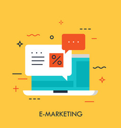 e-marketing concept vector image