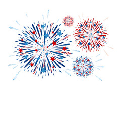 fireworks design on white background vector image