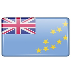 Flags Tuvalu in the form of a magnet on vector