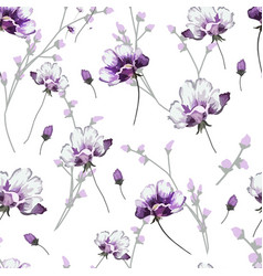 Floral pattern modern shapes seamless vector