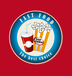 food design over red background vector image vector image