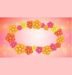 fresh spring flowers romantic background vector image