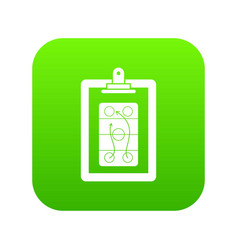 Game plan icon digital green vector